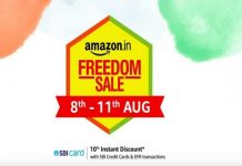Amazon Freedom Sale 2020 | 10% Instant Discount on SBI Credit Cards & EMI