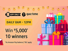 Amazon Quiz Time 22 April 2019 | Answer & Win Rs 5000 Pay Balance