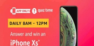 Amazon Quiz Time 20 Nov 2019   Answer & Win iPhone Xs