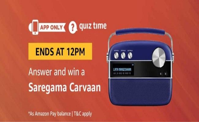 Answers Added] Amazon Quiz Time | Win a Saregama Carvaan
