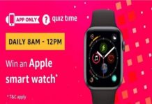 Amazon Quiz Time 20 July 2019 | Answer & Win an Apple Watch