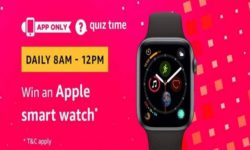 Amazon Quiz Time 20 July 2019   Answer & Win an Apple Watch