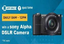 Amazon Quiz Time 23 March | Answer & Win Sony Alpha DSLR Camera