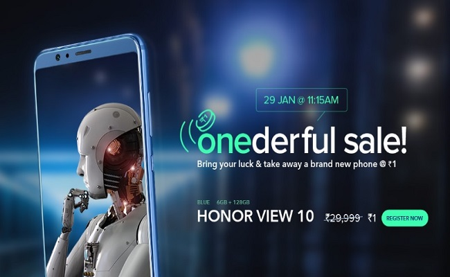 Honor Flash Sale | Honor View 10 at Re 1 - FlashSaleTricks