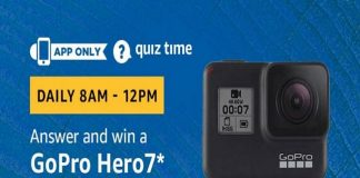 Amazon Quiz Time 25 June 2019 | Answer & Win GoPro Hero7