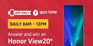 Amazon Quiz Time 20 March 2019 | Answer & Win Honor View20
