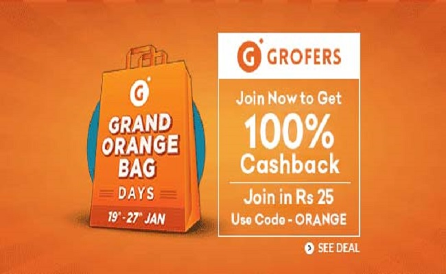 Grofers Grand Sale Offer