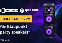 Amazon Quiz Time 21 May 2019 | Answer & Win a Blaupunkt Party Speakers