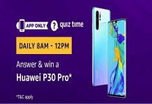 Amazon Quiz Time 25 Aug 2019 | Answer & Win a Huawei P30 Pro