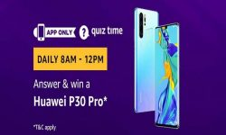 Amazon Quiz Time 05 Aug 2020 | Answer & Win a Huawei P30 Pro
