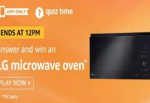 Amazon Quiz Time 19 July 2019 | Answer & Win a LG Microwave Oven