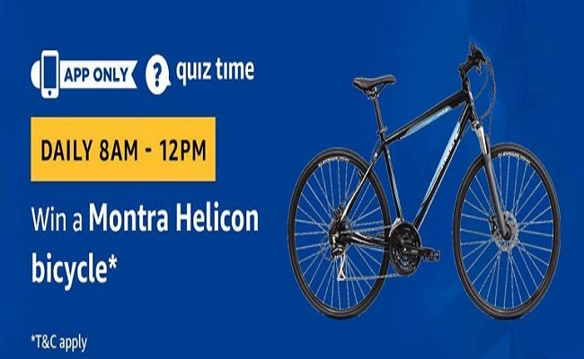 Amazon Quiz Time 18 June 2019 | Answer & Win Montra Helicon Bicycle