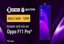 Amazon Quiz Time 22 May 2019 | Answer & Win an Oppo F11 Pro