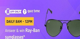 Amazon Quiz Time 25 Sept 2020 | Answer & Win Ray-Ban Sunglasses