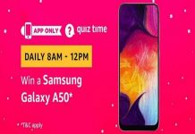 Amazon Quiz Time 13 Oct 2019 | Answer & Win a Samsung Galaxy A50