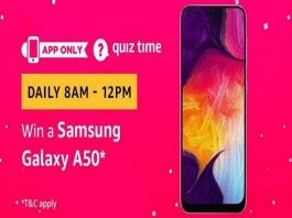 Amazon Quiz Time 21 April 2019 | Answer & Win a Samsung Galaxy A50