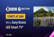 Amazon Quiz Time 25 May 2019 | Answer & Win Sony Bravia LED Smart TV