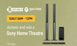 Amazon Quiz Time 18 July 2019 | Answer & Win a Sony Home Theatre