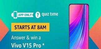 Amazon Quiz Time 19 June 2019 | Answer & Win a Vivo V15 Pro