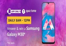 Amazon Quiz Time 18 April 2019 | Answer & Win a Samsung Galaxy M30