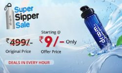 Droom Sipper Sale   Get Sipper for Rs 9 from Flash sale