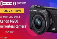 Amazon Quiz Time 26 May 2020 | Answer & Win a Canon M200 mirrorless camera