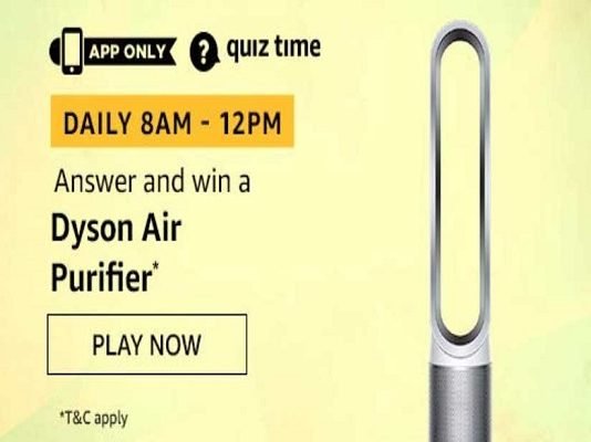 Amazon Quiz Time 24 Oct 2020 | Answer & Win a Dyson Air Purifier