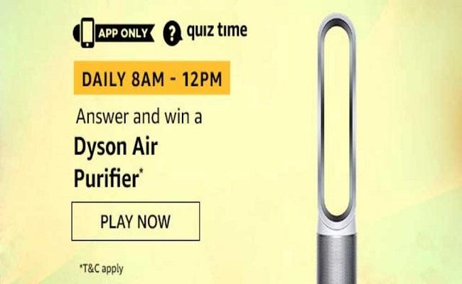 Amazon Quiz Time 16 Nov 2019 | Answer & Win a Dyson Air Purifier