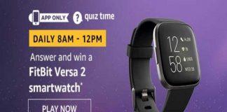 Amazon Quiz Time 19 Nov 2019   Answer & Win a FitBit Versa 2 Smartwatch