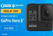 Amazon Quiz Time 10 July 2020 | Answer & Win a GoPro Hero 8