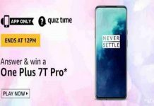 Amazon Quiz Time 03 June 2020 | Answer & Win a OnePlus 7T Pro