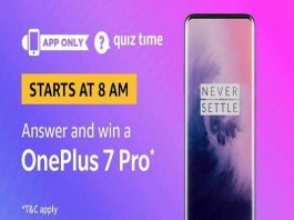 Amazon Quiz Time 17 Nov 2019 | Answer & Win a OnePlus 7 Pro