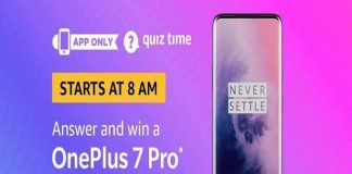 Amazon Quiz Time 18 Aug 2019 | Answer & Win a OnePlus 7 Pro