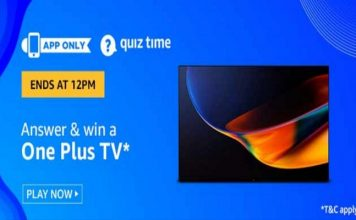 Amazon Quiz Time 22 Feb 2020 | Answer & Win a OnePlus TV