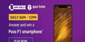 Amazon Quiz Time 08 Dec 2019 | Answer & Win a Poco F1