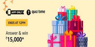 Amazon Quiz Time 09 Dec 2019 | Answer & Win Rs 15,000 Pay Balance
