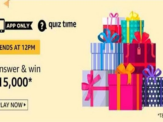Amazon Quiz Time 23 Oct 2020 | Answer & Win Rs 15,000 Pay Balance