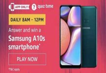 Amazon Quiz Time 19 Jan 2020 | Answer & Win a Samsung A10s