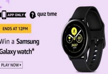 Amazon Quiz Time 21 Sept 2019 | Answer & Win a Samsung Galaxy Watch