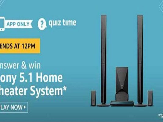 Amazon Quiz Time 05 June 2020 | Answer & Win a Sony 5.1 Home Theatre System