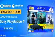 Amazon Quiz Time 06 Dec 2019   Answer & Win a Sony Playstation 4