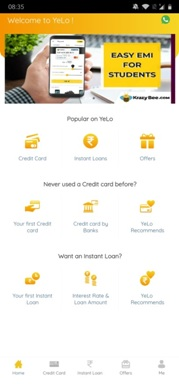 Yelo App Free Credit Card
