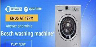 Amazon Quiz Time 14 Dec 2019   Answer & Win a Bosch washing machine