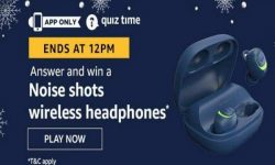 Amazon Quiz Time 08 Aug 2020 | Answer & Win a Noise shots wireless headphones