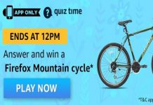 Amazon Quiz Time 03 Apr 2020 | Answer & Win a Firefox Mountain Cycle