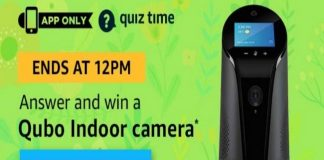 Amazon Quiz Time 28 Mar 2020 | Answer & Win a Qubo Indoor camera