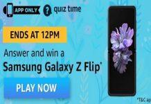Amazon Quiz Time 01 Apr 2020 | Answer & Win a Samsung Galaxy Z Flip