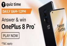 Amazon Quiz Time 27 Sept 2020 | Answer & Win a OnePlus 8 Pro