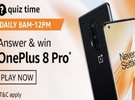 Amazon Quiz Time 07 Oct 2020 | Answer & Win a OnePlus 8 Pro