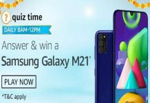 Amazon Quiz Time 30 Sept 2020 | Answer & Win a Samsung Galaxy M21